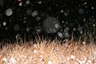 Snowing outside saturday evening
